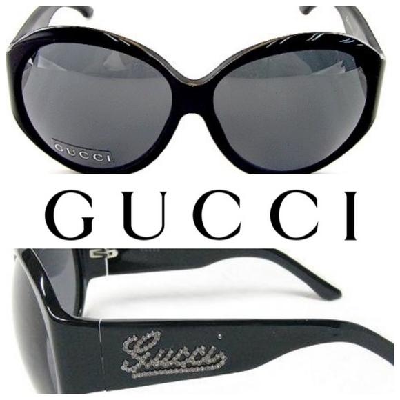 afa07eec844 Gucci Accessories - Authentic GUCCI Strass Crystal Logo Sunglasses